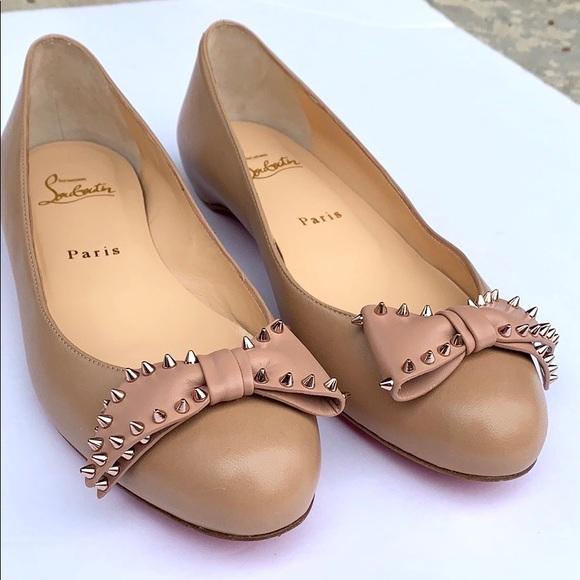 Christian Louboutin Shoes - Christian Louboutin Ballalarina Spiked Bow Flat